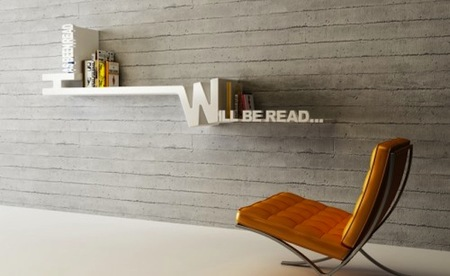 Estantería que separa los libros en leídos y no leídos