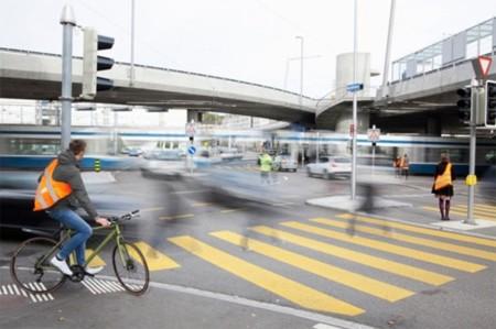 Colección de bolsas reflectantes para ciclistas y peatones