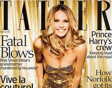 Elle McPherson deslumbra en la revista Tatler