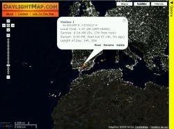 DailightMap: descubriendo las zonas soleadas en cualquier momento del año