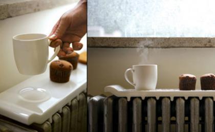 Bandeja de cerámica para el radiador, calienta tus bebidas y ahorra energía con Natural Wave