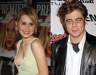 Alison Lohman y Benicio del Toro pareja