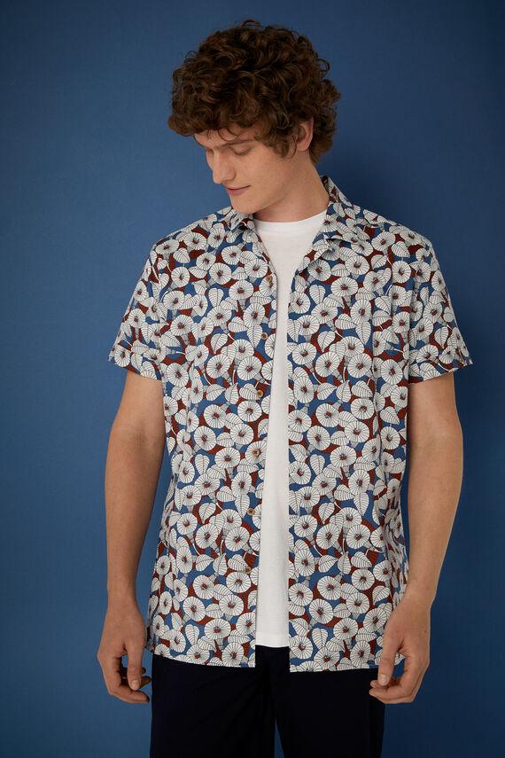 Camisa bowling estampada