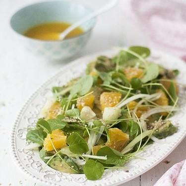 Ensalada de berros y naranja: receta para disfrutar cuidándose