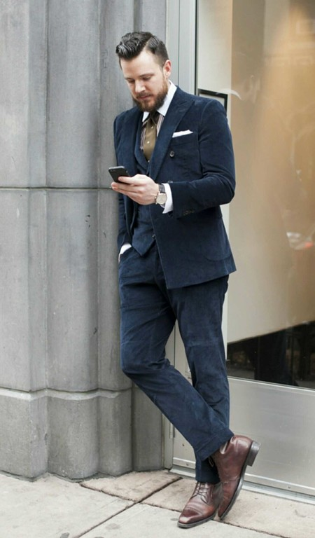 Trendencias Hombre Terciopelo Street Style 2018 03