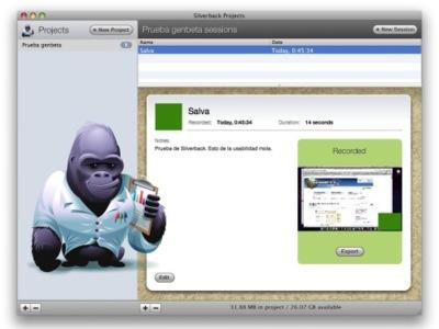 Silverback, realiza tests de usabilidad en tu mac