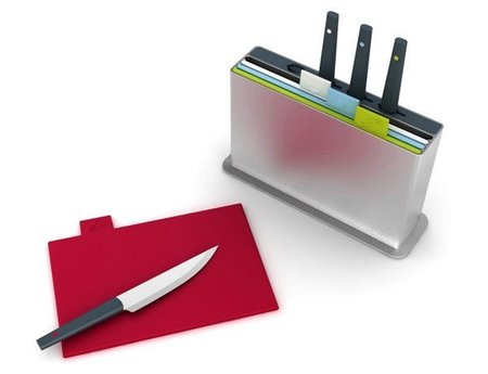 Tablas de cortar organizadas por colores