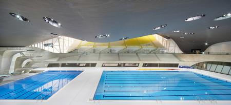 Centro Acuático de Londres, una de las obras de Zaha Hadid