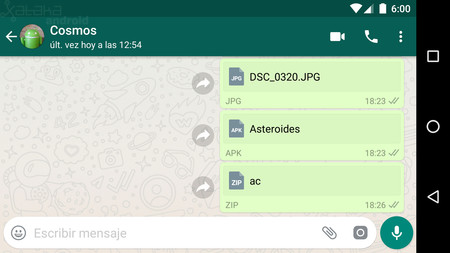 Cómo enviar imágenes sin comprimir y cualquier formato de archivo con WhatsApp para Android [Actualizado]