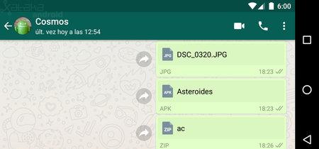 Cómo enviar imágenes sin comprimir y cualquier formato de archivo con WhatsApp para Android
