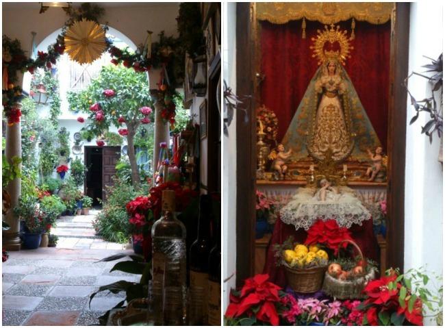 Patiios de Córdoba en Navidad