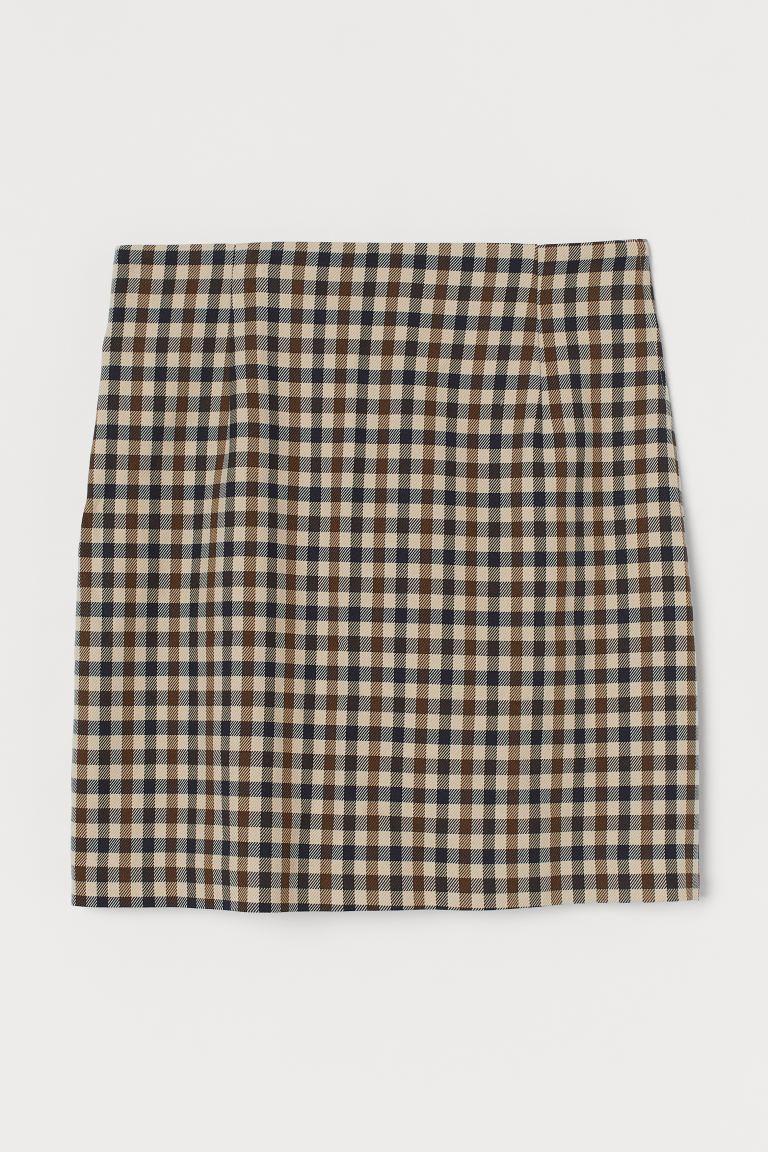 Mini falda de cuadros