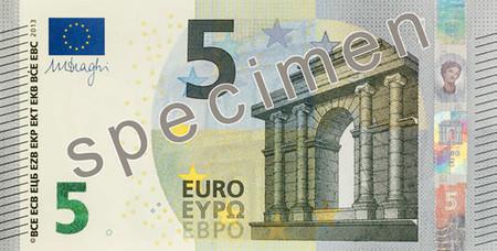 Billete de 5 euros - serie Europa