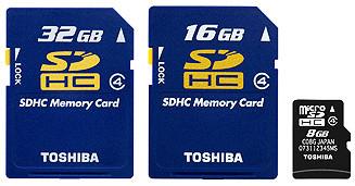 Tarjetas de gran capacidad de Toshiba