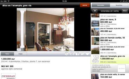 aplicación para el ipad e iphone de idealista - detalle