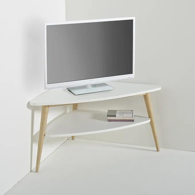 Mueble TV esquinero estilo vintage de doble tablero, Jimi