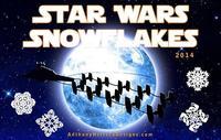 Plantillas de copos de nieve de Star Wars para estas Navidades