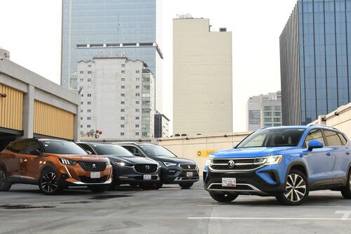 Comparativa: Volkswagen Taos vs. Mazda CX-30, Peugeot 2008 y SEAT Ateca, duelo de SUV compactos (+ video)