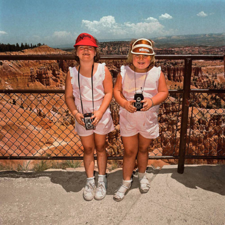 Girls In Matching Pink At Sunset Point Bryce Canyon National Park Ut