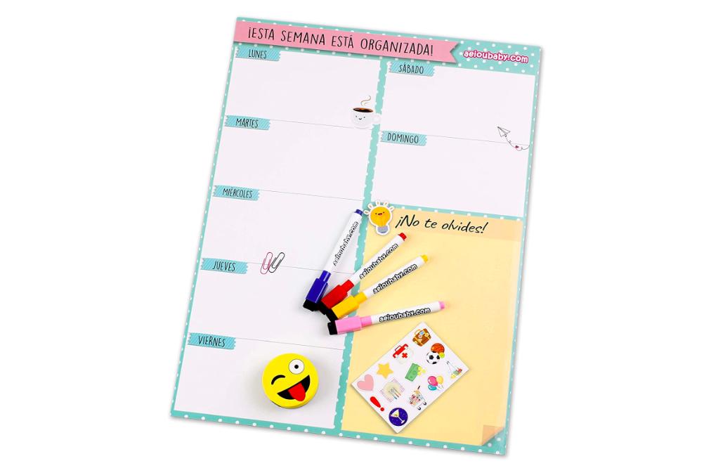 Planificador magnético semana