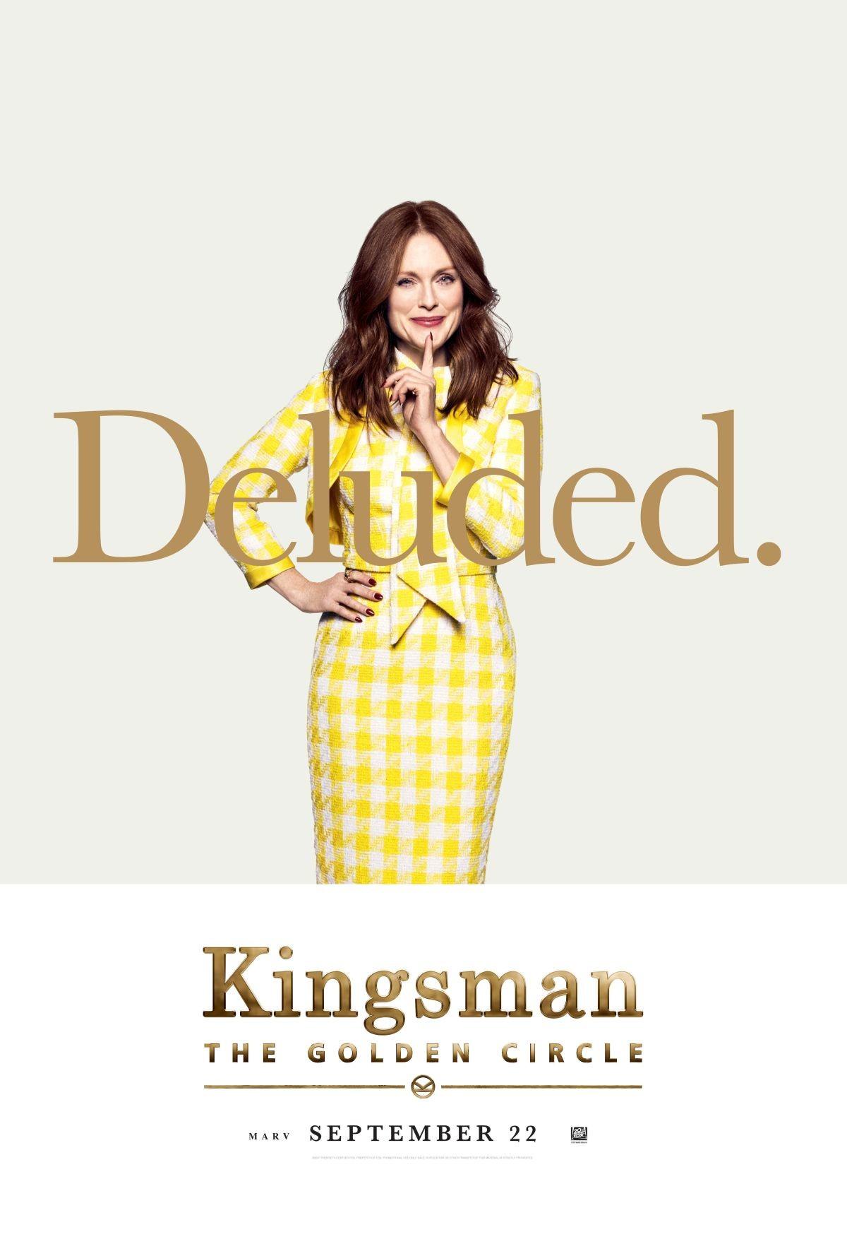 Carteles de los protagonistas de 'Kingsman: El círculo de oro'