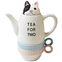 Conjunto Tea for two, tetera y tazas