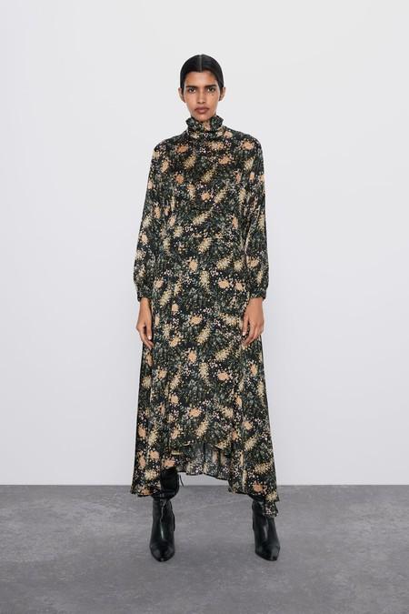 Zara Vestido Midi Estampado Floral 6