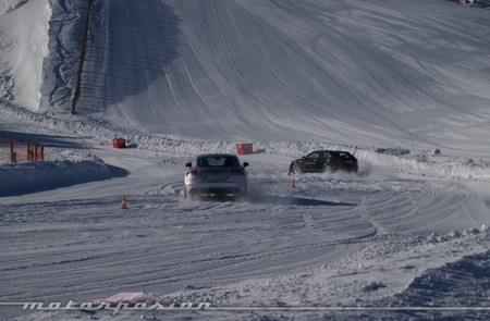 Audi winter driving experience Soldeu slalom