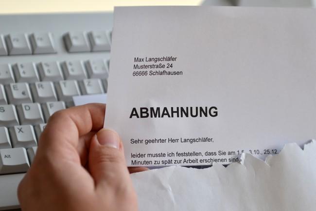 Abmahnung Arbeitsrecht