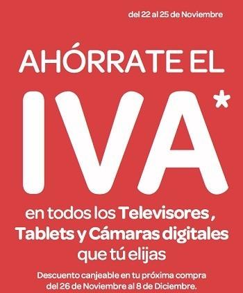 Carrefour descuenta el IVA en televisores, tablets y cámaras digitales hasta el 25 de noviembre
