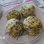 Muffins de brócoli en microondas. Receta saludable baja en hidratos