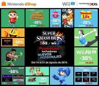 Descuentos en Nintendo hasta el 21 de agosto  por los nuevos personajes de 'Super Smash Bros'