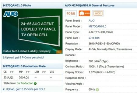 Nuevos paneles 4K del fabricante AUO ¿Posibles Cinema Display en el horizonte?