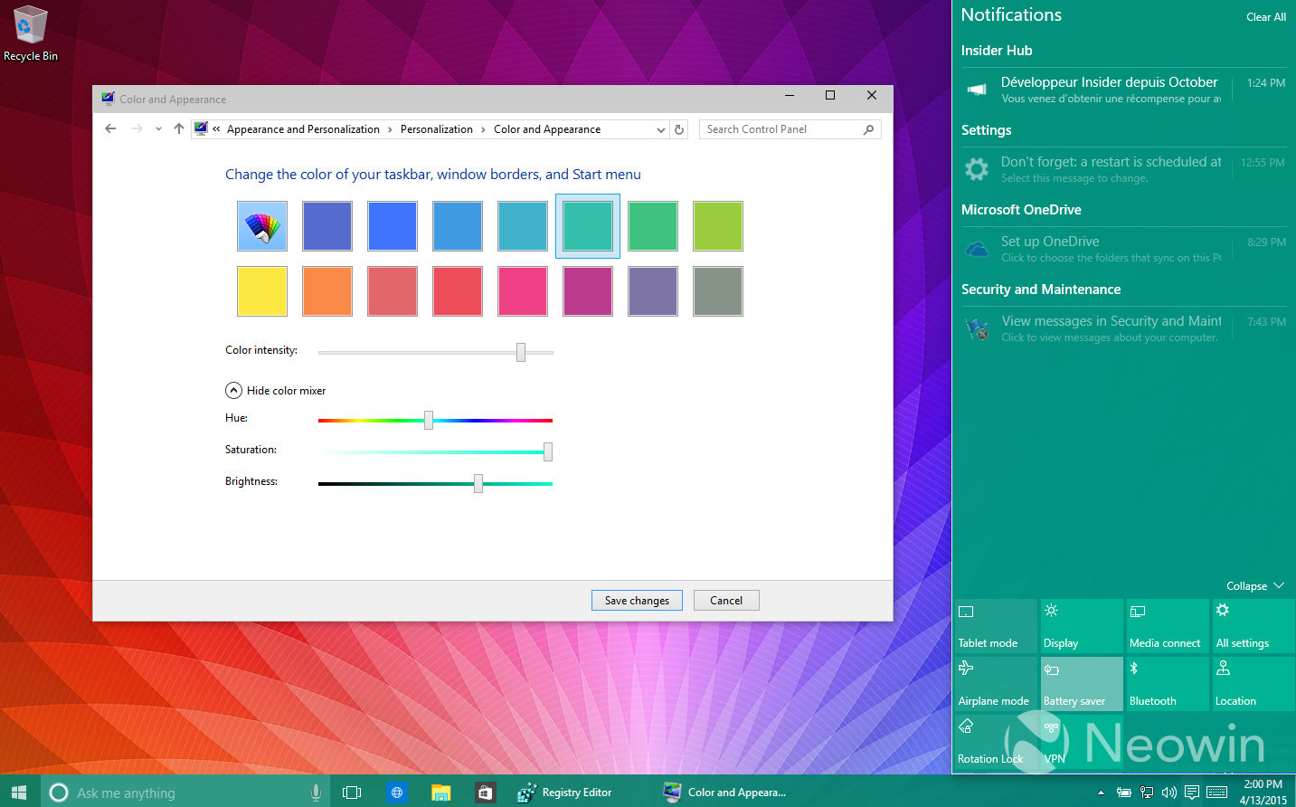 Foto de Temas de colores en Windows 10 build 10056 (5/16)