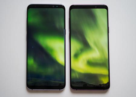 Samsung Galaxy S8+ (izquierda) frente al Samsung Galaxy S9+ (derecha)