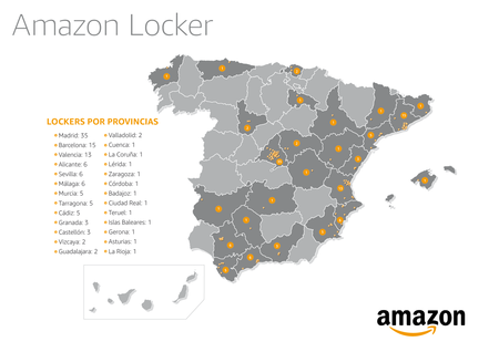 Mapa Espana Lockers
