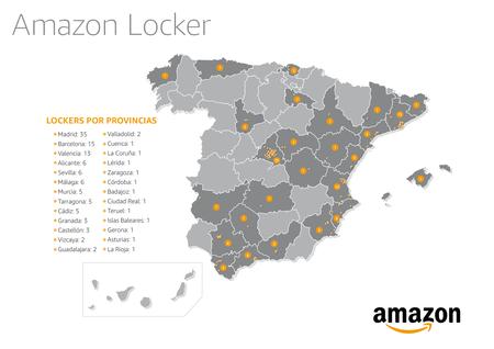 Mapa Espana Lockers