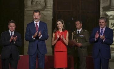 Doña Letizia apuesta por todo al rojo y demuestra que es su color