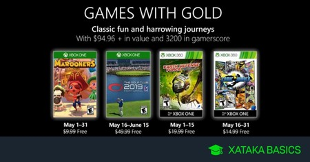 Juegos de Xbox Gold gratis para Xbox One y 360 de mayo 2019