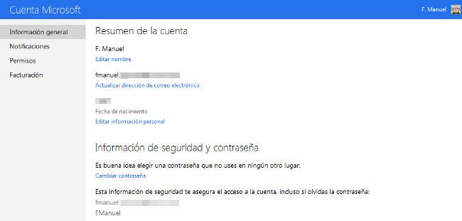 Nueva cuenta Microsoft estilo Metro UI