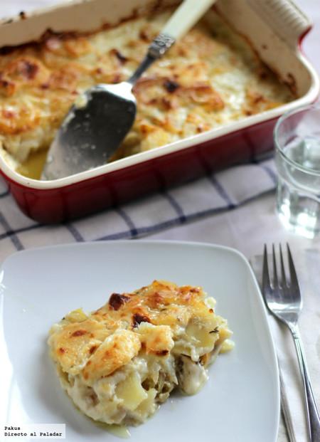Bacalhau com natas, la receta portuguesa de bacalao con nata