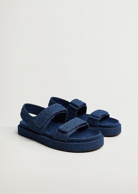 Mango Sandals Denim 01