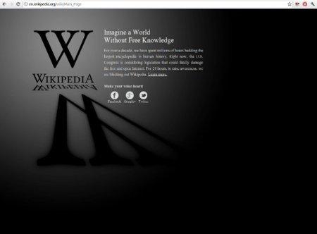 Apagón en Wikipedia