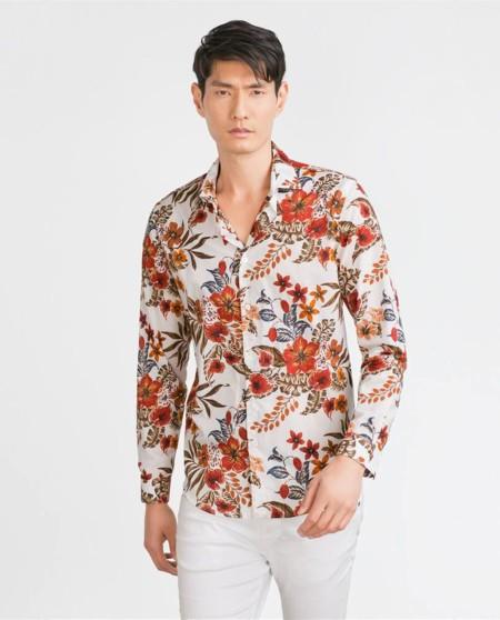 Floral Print Shirts Zara Sale Trendencias Hombre 3