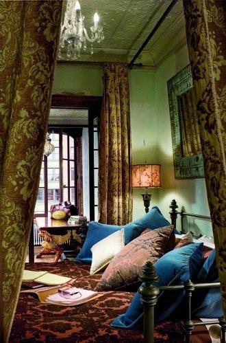 El dormitorio de Gerard Butler.
