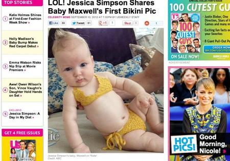 El bebé de Jessica Simpson en bikini: la polémica está servida