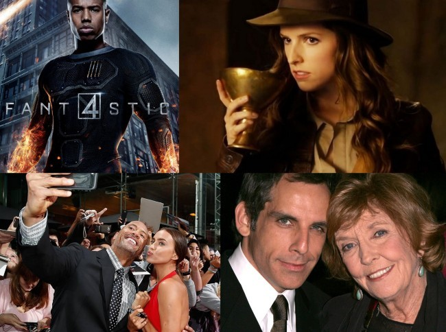 Michael B. Jordan, Anna Kendrick, Dwayne Johnson con Irina Shayk y Ben Stiller junto a su madre, Anne Meara