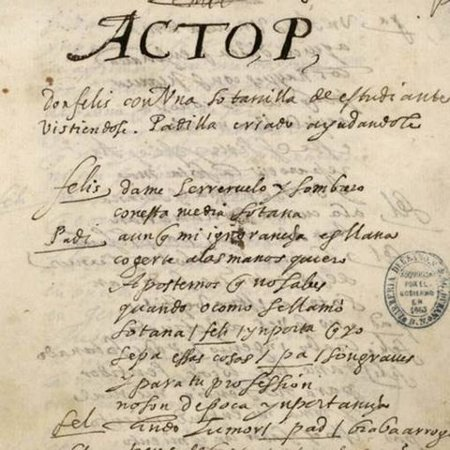 Manuscrito teatral