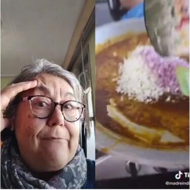 """La madre valenciana que triunfa en TikTok criticando paellas: """"Madre de la virgen del amor hermoso, ¡cebolla!"""""""