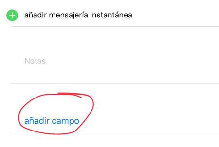 añadir apodo iOS